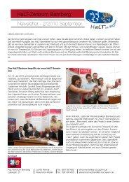 Newsletter II-2010 September 1 - HaLT