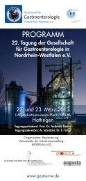 PROGRAMM - bei der Gesellschaft für Gastroenterologie in Nordrhein