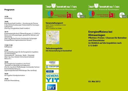 energieeffizienz bei Klimaanlagen - Frankfurt am Main