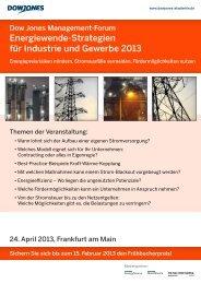 Energiewende-Strategien für Industrie und Gewerbe 2013 - Dow Jones ...