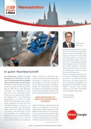 Energie & Klima 2020 Newsletter 3/2012 - RheinEnergie AG