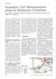 Gasisolierte 15-kV-Bahnstromschalt- anlage im ... - Siemens Energy