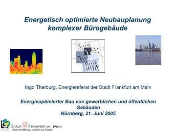 Information zur energetisch optimierten Neubauplanung komplexer ...