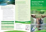 Flensburg eXtra öko Ihr Strom aus 100 % Wasserkraft. - Stadtwerke ...