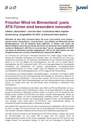 Frischer Wind im Binnenland - Advanced Tower Systems BV