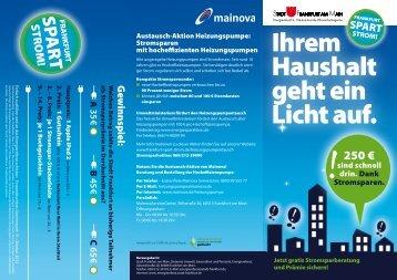 Kampagnenflyer - Frankfurt spart Strom