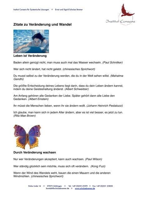 Zitate Zu Veränderung Und Wandel Schulze Bremer