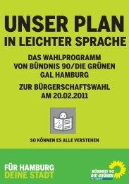 IN LEICHTER SPRACHE - Grüne Hamburg - Bündnis 90/Die Grünen