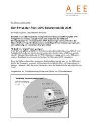 Der Swissolar-Plan: 20% Solarstrom bis 2025 - A EE - Agentur für ...