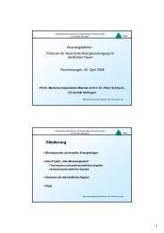 Bioenergiedörfer - Chancen für dezentrale Energieversorgung im ...