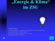 """""""Energie & Klima"""" im ZSU - Hamburger Bildungsserver"""