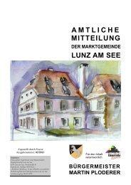 Neu: Gemeindezeitung Februar 2013 - Lunz am See