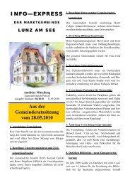 Info-Express Mai 2010 - Lunz am See