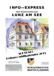 Gemeindezeitung Dezember 2012 - Lunz am See