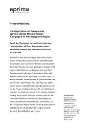 Pressemitteilung eprimo startet Stromwechsel- Kampagne in ...