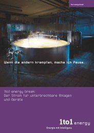 1to1 energy break: Der Strom für unterbrechbare Anlagen ... - BKW