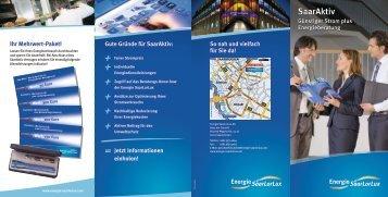 Broschüre SaarAktiv (2,1 MB, PDF) - Energie SaarLorLux