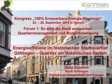 Energieeffizienz im historischen Stadtquartier Göttingen - 100 ...