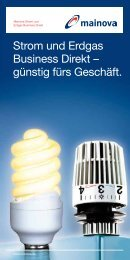 Strom und Erdgas Business Direkt – günstig fürs ... - Mainova AG