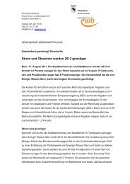 Strom und Ökostrom werden 2012 günstiger - Energie Wasser Bern