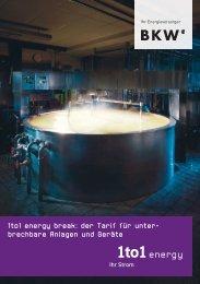 1to1 energy break: der Tarif für unter- brech bare Anlagen ... - BKW