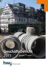 Geschäftsbericht 2011 - HWG eG