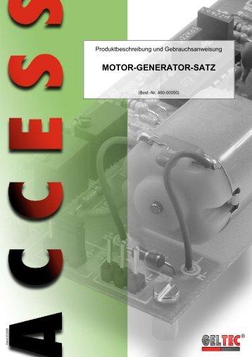 MOTOR-GENERATOR-SATZ - Geltec