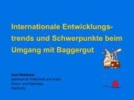 Internationale Entwicklungstrends und Schwerpunkte beim Umgang ...