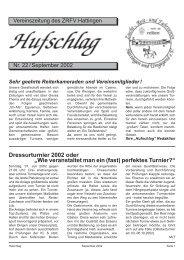 Dressurturnier 2002 oder - Zucht-, Reit- und Fahrverein Hattingen