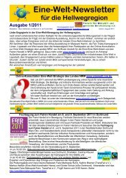 Eine-Welt-Newsletter für die Hellwegregion, August ... - FUgE Hamm