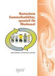 Kostenlose Sammelbehälter, speziell für Aludosen! - Igora