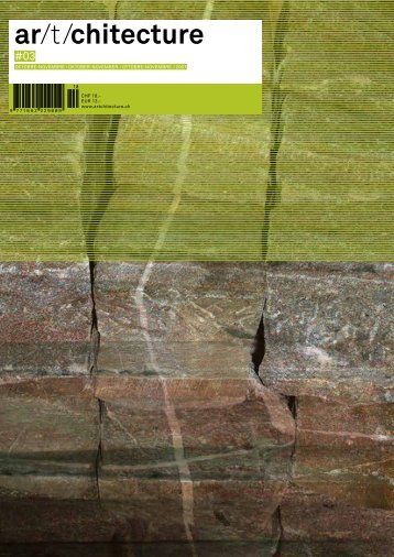 ar/t/chitecture N°3. Magazine about swiss architecture, interior design, product design DE/FR/IT