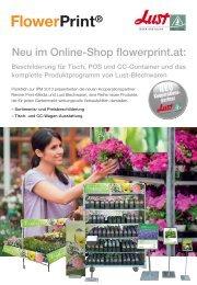 Neu im Online-Shop flowerprint.at: - LUST Blechwaren GmbH
