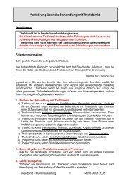 Musteraufklärung der DGHO zur Anwendung von Thalidomid vom