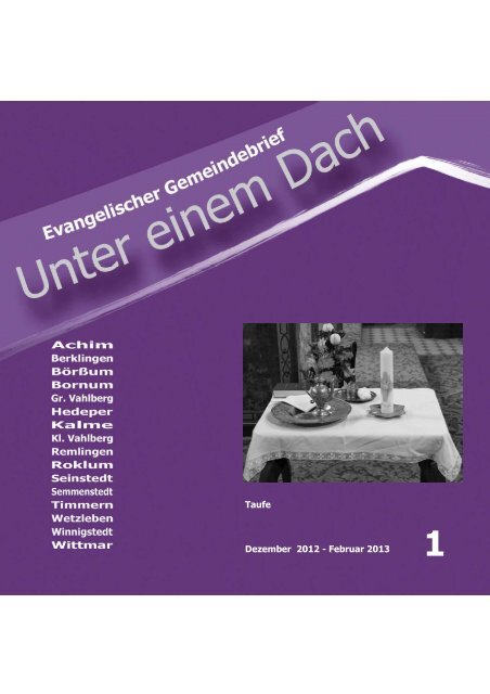 Taufe Dezember 2012 - Februar 2013 - Kirche Börßum