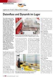 Datenfluss und Dynamik im Lager - FM DAS LOGISTIK-MAGAZIN