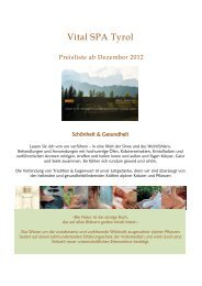 Gesichtsbehandlung - Alphotel Tyrol