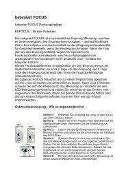babystart FOCUS-Gebrauchsanweisung deutsch - Familienplanung