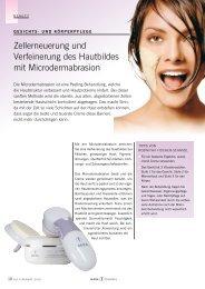 Zellerneuerung und Verfeinerung des Hautbildes mit ...