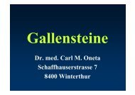 Gallensteine - Praxis Dr. Carl Oneta in Winterthur