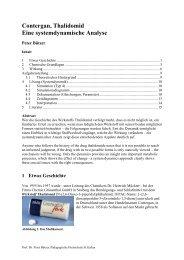Contergan, Thalidomid Eine systemdynamische Analyse