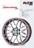 JANTES ALum INIum ET PNEu S - PLATIN wheels - Page 5