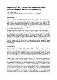 Empfehlungen zur Sortenwahl bei ... - Sachsen-Anhalt