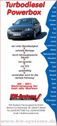 Turbodiesel Powerbox Turbodiesel Powerbox - KW-Systems