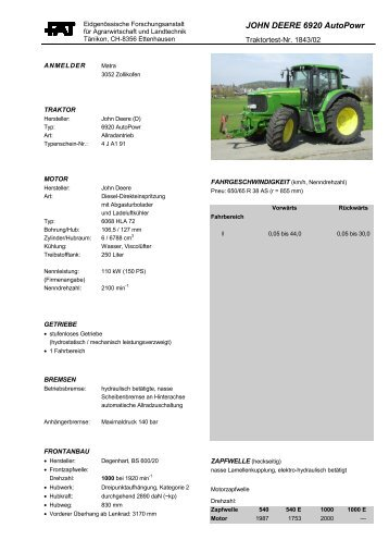 JOHN DEERE 6920 AutoPowr