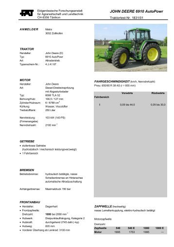JOHN DEERE 6910 AutoPowr