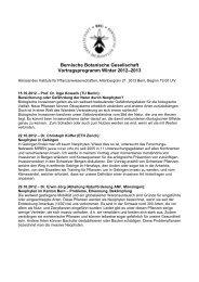 Vortragsprogramm BBG Winter 2012-2013 - Bernische Botanische ...