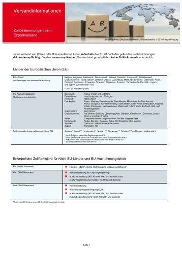Versandinformationen - DPD