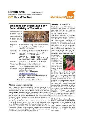 Mitteilungen - Stadt Illnau-Effretikon