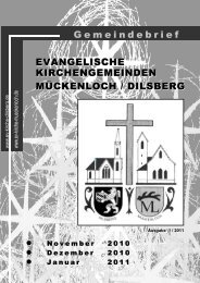 Gemeindebrief 01 2011 Internet - Evangelische Kirche Dilsberg